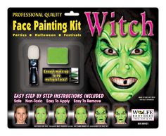 Wolfe Brothers Face Art Wolfe Brothers Witch Makeup Kit : Make-up