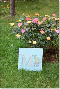 Mr and Mrs Wedding Wooden Sign String Art by mintiwall on Etsy, $85.00