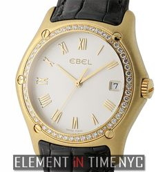 Ebel Classic Wave 37mm Diamond Bexel 18k Yellow Gold Ref#: 8187F44/6235136 ($3,975.00 USD)
