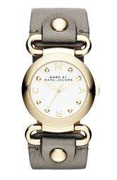 MARC BY MARC JACOBS 'Small Molly' Leather Strap Watch, 30mm >> http://times.specialsells.com/discount-marc-by-marc-jacobs-amp-39-small-molly-amp-39-leather-strap-watch-30mm-i1ghl.rmz