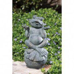Cast Iron frog Crapaud avec Couronne Décoration De Jardin Statue Métal Mignon bassin 11 cm Nouveau