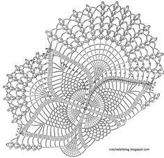Crochet d'art: napperons au crochet - Crochet fr Motif gratuit - napperons ovale de dentelle