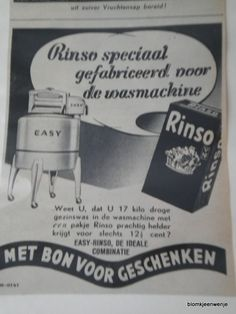 Old advertisement washing powder (1934)