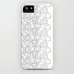 BLACK AND WHITE SHAPES iPhone & iPod Case