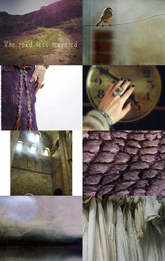 purple, beige moodboard - the road less traveled