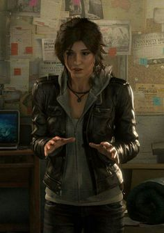 I will never look as badass nor as hot in a leather jacket as Lara looks in a leather jacket. I accept my leather jacket inferiority. <3