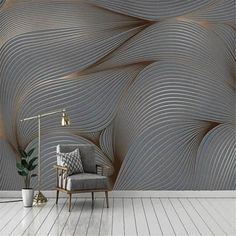 3D Wallpaper For Living Room Wall Painting Living Room, Living Room Bedroom, Bedroom Sets, Home Wallpaper, Custom Wallpaper, Leaves Wallpaper, Textured Wallpaper, Feather Wallpaper, Floor Wallpaper