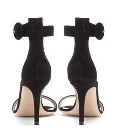 Portofino black suede sandals