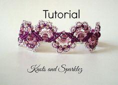 Macrame pattern Bracelet tutorial DIY craft by KNOTSANDSPARKLEZ available on Craftsy at  https://www.craftsy.com/jewelry/patterns/micro-macrame-bracelet-tutorial/493481