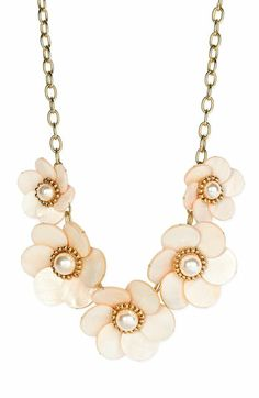 Kate Spade 'Garden Party' graduated floral necklace