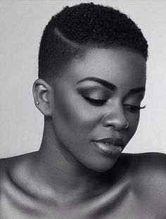 New haircut black women natural shaved sides Ideas Natural Hair Short Cuts, Short Natural Haircuts, Tapered Natural Hair, Short Hair Cuts, Natural Hair Styles, Low Haircuts, African Hairstyles, Afro Hairstyles, Black Women Hairstyles