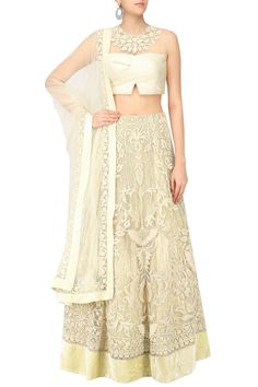Ecru choli and lehenga set available only at Pernia's Pop Up Shop. #happyshopping #shopnow #ppus