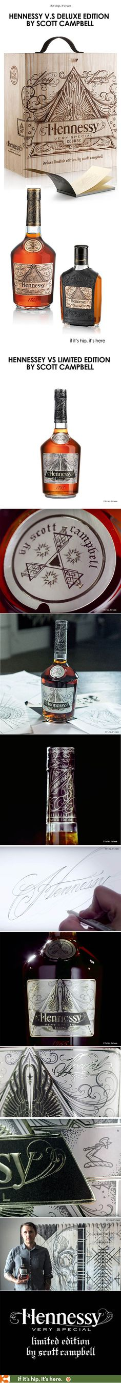 The stunning collaboration between tattoo artist Scott Campbell and Hennessy VS.
