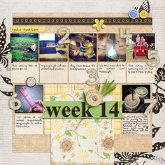 Weekly Project Template 4 by Scrapping with Liz and Capture Life: April by Tracie Stroud Designs