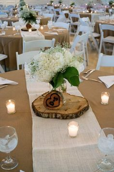 Hydrangea & babies breath floral centerpiece in mason jar. Flowers: A…