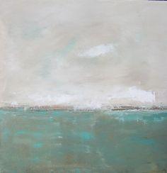 Landscape Seascape Original Painting on Canvas by lindadonohue