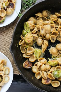 Creamy Brussels Sprout Orrechiette