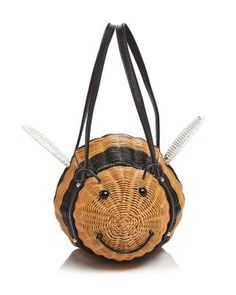 """Let's bee real: we can't get enough of kate spade new york's buzz-worthy wicker mini bag. 