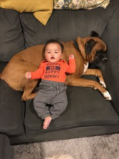 Boxer And Baby, Boxer Dogs, I Am Happy, Im Happy, Boxers, Boxer Pants