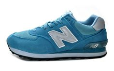 NEWBALANCE Sky Blue And Gray And White Mens  Suede Running Shoes 574 - ShopGoo Online Store