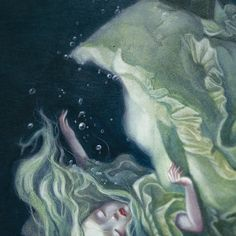 Sea of Tears detail from Lacombe's upcoming Alice in Wonderland book <3