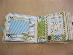 Creation with love: Mini Album for a Baby Boy - Bundle of Joy Echo Park (multi photos) Baby Scrapbook Pages, Baby Boy Scrapbook, Mini Scrapbook Albums, Scrapbook Sketches, Scrapbook Layouts, Baby Mini Album, Paper Bag Album, Journal Paper, Welcome Baby Boys