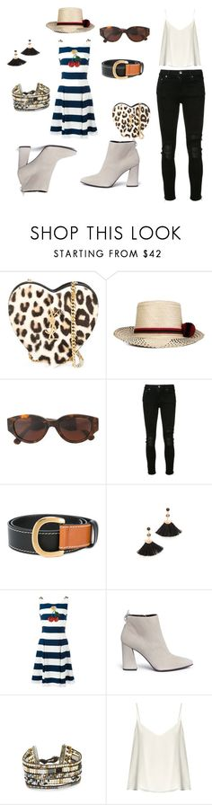 """The art of change..,"" by jamuna-kaalla ❤ liked on Polyvore featuring Yves Saint Laurent, YOSUZI, RetroSuperFuture, AMIRI, Sonia Rykiel, Shashi, Dolce&Gabbana, Stuart Weitzman, NAKAMOL and Raey"