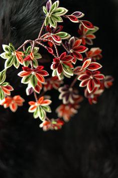丹楓 ・ つまみ簪 (-姫コ-): 作品: 野庵 yarn 着物小物のお店 (根付、帯留、かんざし、簪、和小物 等)