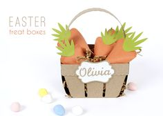 Make Easter Treat Boxes with your Silhouette - 3D #papercraft