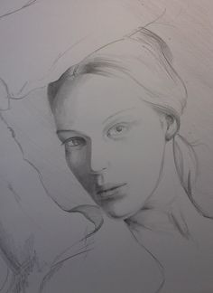 Pencil portrait, Verna, mesmerizing beaty. Quick sketch