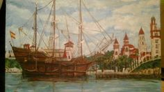 El Galeon 450th Saint Augustine, Artist:Heather Dawn Harley-Davidson