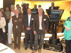 Die Mitglieder des Wirtschaftsclub Bamberg im heißen TVO-Studio.