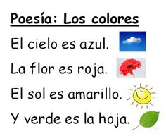 poesia los colores Thanksgiving Poems, Spanish Colors, Color Poem, Spanish Teaching Resources, First Day Of Class, Spanish Vocabulary, Bilingual Education, Infant Activities, Anchor Charts