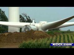 Iowa's Largest Wind Turbine Project Under Construction  Sucking up precious farmland. The life of a wind turbine isn't even 50 years $7K/year/turbine/50 years - it's 20