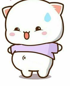 Cute Panda Cartoon, Cute Anime Cat, Cute Cartoon Images, Cute Couple Cartoon, Cute Cat Gif, Cute Love Cartoons, Cute Cartoon Wallpapers, Cute Cats, Iphone Wallpaper Cat