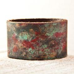 TREASURY Bracelet Leather Cuffs Nature Jewelry by rainwheel