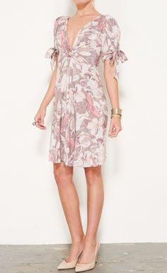 Bottega Veneta Cream, Taupe And Pink Dress