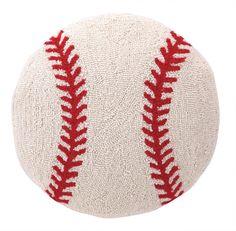 Baseball Hook Wool Throw Pillow