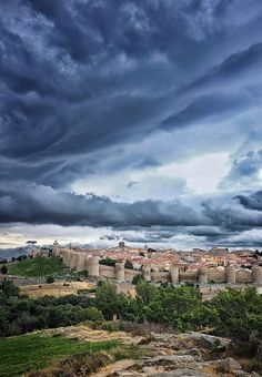 AVILA, Spain. Avila's inner city is surrounded by the oldest and best preserved set of medieval walls of any Spanish city.The construction of the walls began in 1090 and were completed the next century. Eighty-two massive towers reinforce walls whose thickness averages 3m.
