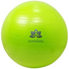 Exercise Ball By Santulana Antiburst Free Pump Stability Ball for Pilates Core Strength Balance Fitness Swiss Ball for Physio Sitting Ball for Healthy Posture Low Odor Limegreen >>> Learn more by visiting the image link. Pilates Workout Routine, Workouts, Ab Exercises, Pilates Body, Fitness Stores, Stability Ball, Home Gym Equipment, Improve Posture, Total Body