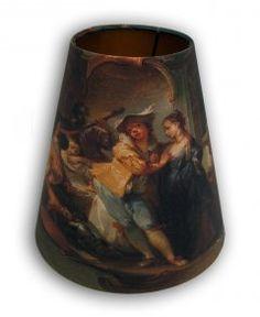 """Small light shade.   Johann Wolfgang Baumgartner (1712-1761), """"Den fortabte søn i selskab med kurtisaner"""". Statens Museum for Kunst / National Gallery of Denmark. www.smk.dk"""