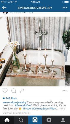 Bathroom: Interior Design Bathroom Photos, bathtub tray design ideas, smart bath… – Famous Last Words Diy Bathroom, Bathroom Photos, Bathroom Candles, Bath Candles, Bohemian Bathroom, Bathroom Ideas, Interior Flat, Interior And Exterior, Bad Inspiration