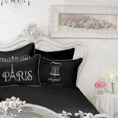 Paris Eiffel Tower Collage Black White Pillow ($86) ❤ Liked On Polyvore    Fashion   Trends   Shopping   Polyvore   Shop For Fun   Pinterest   White  Pillows ...