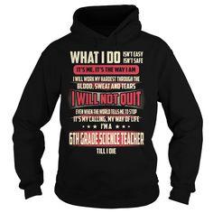 6th Grade Science Teacher Job Title T-Shirt