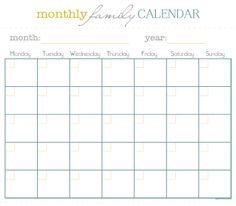 Monthly Menu Plan Printable | Monthly menu planner, Monthly menu ...