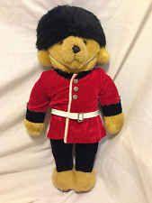 MerryThought Bear Buckingham Palace Guard Uniform Ironbridge Shropshire Plush