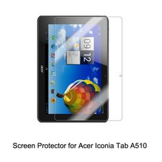 Clear LCD PET Film Anti-Scratch / Touch Responsive Screen Protector Cover for Acer Iconia Tab A510 Tablet Accessories