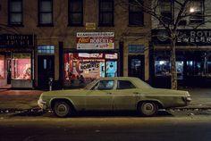 <em>Charlie Robert's campaign car, Chevrolet Bel Air, Hoboken, NJ, 1976.</em>