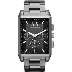 Relógio Armani Exchange AX2115 Men's Gunmetal Grey IP Stainless Steel Bracelet Grey Dial Chronograph Watch