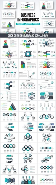 PPT infographic elements bundle by Abert on @creativemarket #Infographics